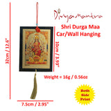 Divya Mantra Shri Durga Maa Talisman Gift Pendant Amulet for Car Rear View Mirror Decor Ornament Accessories/Good Luck Charm Protection Interior Wall Hanging Showpiece - Divya Mantra