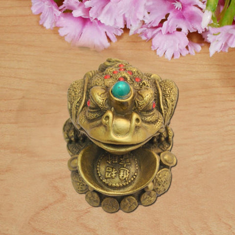 Divya Mantra Feng Shui King Money Frog For Good Luck - Divya Mantra