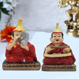 Divya Mantra Chanting Tibetan Monks Showpiece - Divya Mantra