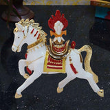 Divya Mantra Bejewelled Wish Fulfilling Feng Shui Wind Horse with Secret Compartment - Divya Mantra