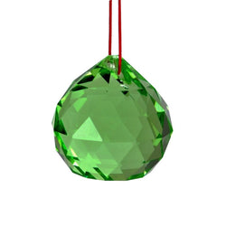 Divya Mantra Green Crystal Ball Car / Wall Hanging Sun Catcher- 4 cm - Divya Mantra
