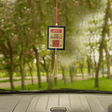 Divya Mantra Sri Vyapar Vridhi Yantra Talisman Gift Pendant Amulet for Car Rear View Mirror Decor Ornament Accessories/Good Luck Charm Protection Interior Wall Hanging Showpiece - Divya Mantra