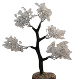 Divya Mantra Feng Shui Clear Crystal Quartz Gem Tree - Divya Mantra