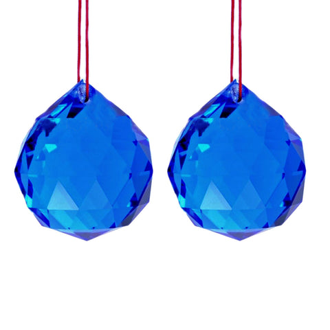 Divya Mantra Set Of Two Feng Shui Crystal Rainbow Suncatcher Hanging