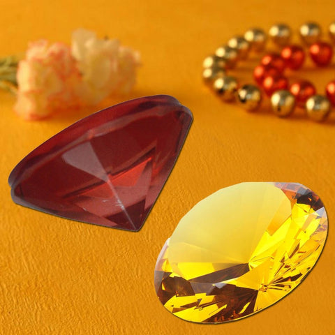 Divya Mantra Feng shui Crystal Diamond Set For Chakra Healing - Divya Mantra