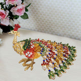 Divya Mantra Bejeweled Peacock For Wish Fulfillment Showpiece - Divya Mantra