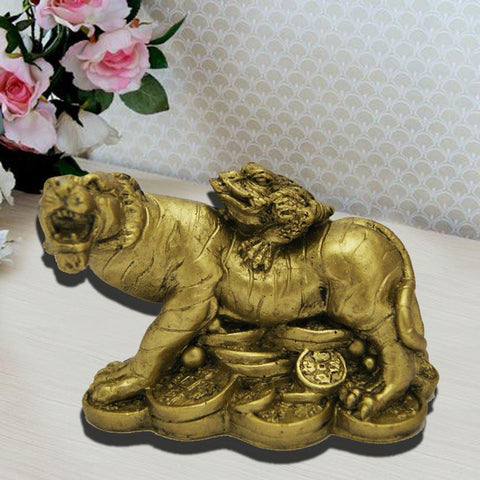 Divya Mantra Feng Shui Money Frog On Tiger - Divya Mantra