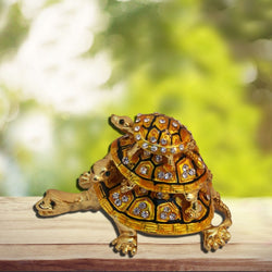 Divya Mantra Bejeweled Wish Fulfilling Three Tier Tortoise - Divya Mantra