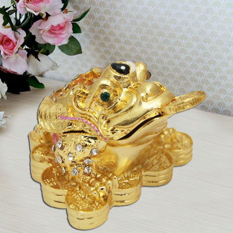 Divya Mantra Bejeweled Chinese Money Toad For Wish- Fulfillment - Divya Mantra