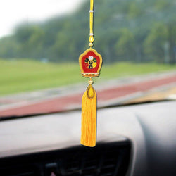 Divya Mantra Car Decoration Rear View Mirror Hanging Accessories Tibetan Buddhism Kala Chakra Symbol - Divya Mantra
