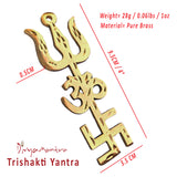 Divya Mantra Combo Of Trishakti Yantra Hanging and Feng Shui Chinese Coins - Divya Mantra