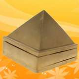 Divya Mantra Reiki Healing Chinese Feng Shui Vastu Positive Energy Multilayered Brass Spiritual 1 Inch Pyramid for Prosperity, Wish & Harmony, Set of 3, 91 Pyramids - Divya Mantra