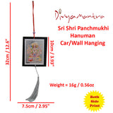 ivya Mantra Set of Two Panchmukhi Hanuman Car / Wall Hanging