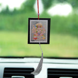 Divya Mantra Set of Two Panchamukhi and Hanuman Lifting Parvat Car / Wall Hanging