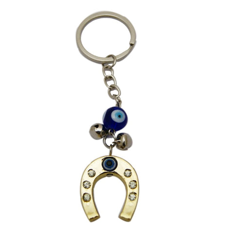 Divya Mantra Evil Eye Protection Horse Shoe Keychain - Divya Mantra