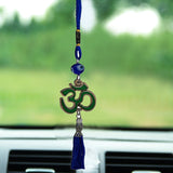 Divya Mantra Decorative Evil Eye Om Pendant Amulet for Car Rear View Mirror Decor Ornament Accessories/Good Luck Charm Protection Interior Wall Hanging Showpiece - Multicolor, Set of 3 - Divya Mantra