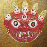 Divya Mantra Nazar Battu Evil Eye Mahakala Mask Wall Hanging