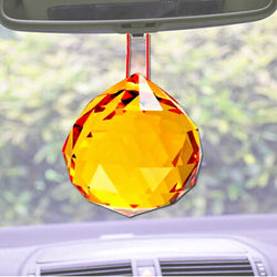 Divya Mantra Feng Shui Orange Suncatcher Hanging - 40 mm - Divya Mantra