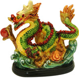 Divya Mantra Feng Shui Dragon Gasping Ball For Power And Wealth Multicolor