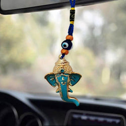 Divya Mantra Car Decoration Rear View Mirror Hanging Accessories Ganesha Feng Shui Evil Eye - Divya Mantra