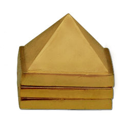 Divya Mantra Vastu Wish Multilayered 1 Inch Zinc Pyramid (Set Of 3) 91 Pyramids in Total - Divya Mantra