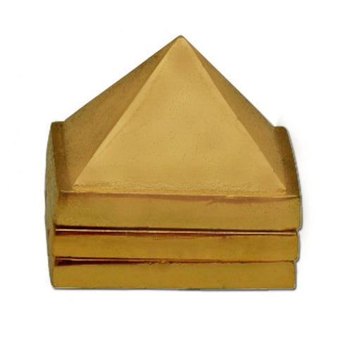 Divya Mantra Vastu Wish Multilayered 2 Inches Zinc Pyramid (Set Of 3) 91 Pyramids in Total - Divya Mantra