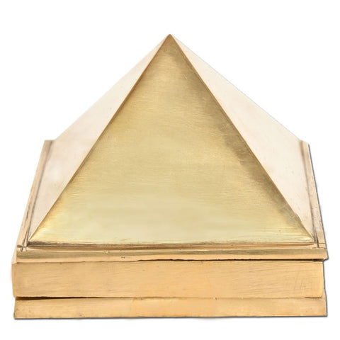 Divya Mantra Vastu Wish Multilayered 3 Inches Pure Brass Pyramid (Set Of 3) 91 Pyramids in Total - Divya Mantra