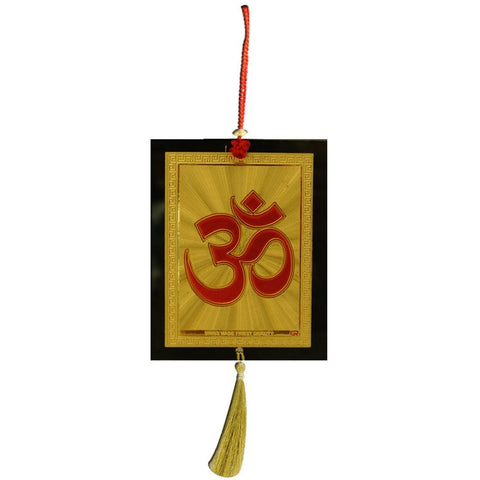 Divya Mantra Car Decoration Rear View Mirror Hanging Accessories Om Symbol - Divya Mantra