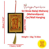 Divya Mantra Sri Shree Balaji Maharaj (Mehendipura) Talisman Gift Pendant Amulet for Car Rear View Mirror Decor Ornament Accessories/Good Luck Charm Protection Interior Wall Hanging Showpiece