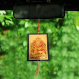 Divya Mantra Sri Lord Bramha Talisman Gift Pendant Amulet for Car Rear View Mirror Decor Ornament Accessories/Good Luck Charm Protection Interior Wall Hanging Showpiece