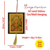 Divya Mantra Sri Lord Vishnu Talisman Gift Pendant Amulet for Car Rear View Mirror Decor Ornament Accessories/Good Luck Charm Protection Interior Wall Hanging Showpiece - Divya Mantra