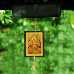 Divya Mantra Sri Lord Vishnu Talisman Gift Pendant Amulet for Car Rear View Mirror Decor Ornament Accessories/Good Luck Charm Protection Interior Wall Hanging Showpiece