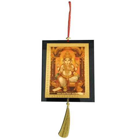 Divya Mantra Car Decoration Rear View Mirror Hanging Accessories Ganesha - Divya Mantra