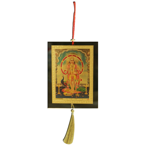 Divya Mantra Sri Lord Kartikeya Talisman Gift Pendant Amulet for Car Rear View Mirror Decor Ornament Accessories/Good Luck Charm Protection Interior Wall Hanging Showpiece - Divya Mantra
