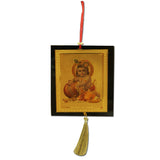 Divya Mantra Sri Little Makhanchor Krishna Talisman Gift Pendant Amulet for Car Rear View Mirror Decor Ornament Accessories/Good Luck Charm Protection Interior Wall Hanging Showpiece - Divya Mantra