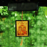 Divya Mantra Sri Lord Ram Sita Talisman Gift Pendant Amulet for Car Rear View Mirror Decor Ornament Accessories/Good Luck Charm Protection Interior Wall Hanging Showpiece - Divya Mantra
