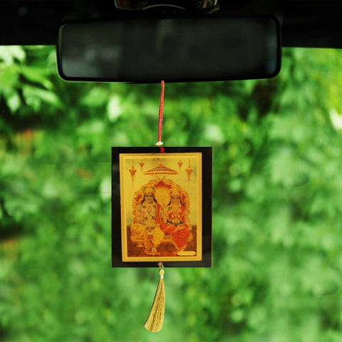 Divya Mantra Sri Lord Ram Sita Talisman Gift Pendant Amulet for Car Rear View Mirror Decor Ornament Accessories/Good Luck Charm Protection Interior Wall Hanging Showpiece