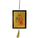 Divya Mantra Combo Of Radha Krishna Car Decoration Rear View Mirror Hanging Accessories And Prayer Flag For Car - Divya Mantra