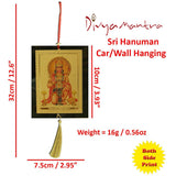 Divya Mantra Car Decoration Rear View Mirror Hanging Accessories Set of Two Hanuman - Divya Mantra