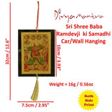 Divya Mantra Sri Shree Baba Ramdevji ki Samadhi Talisman Gift Pendant Amulet for Car Rear View Mirror Decor Ornament Accessories/Good Luck Charm Protection Interior Wall Hanging Showpiece