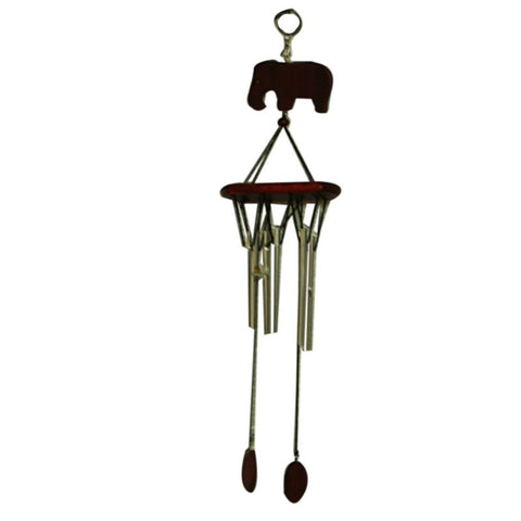 Divya Mantra Feng Shui Elephant 6 Pipe Metal Wind Chime For Happiness And Luck - Divya Mantra