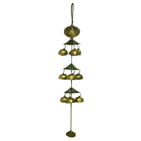 Divya Mantra Feng Shui Laughing Buddha Metal Wind Chime For Happiness And Luck - Divya Mantra
