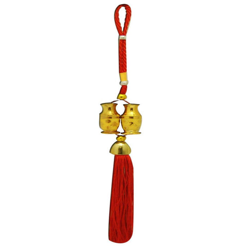 Divya Mantra Car Decoration Rear View Mirror Hanging Accessories Tibetan Feng Shui Decor - Divya Mantra