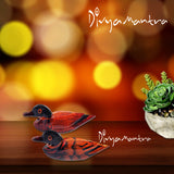 Divya Mantra Feng Shui Wooden Pair Of Mandarin Ducks For Love Luck Bedroom Decor - Divya Mantra