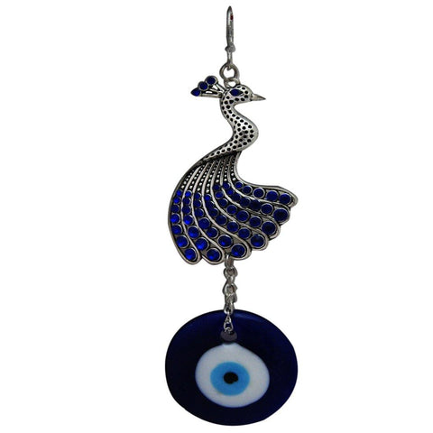 Divya Mantra Car Decoration Rear View Mirror Hanging Accessories Peacock Evil Eye Protection Amulet - Divya Mantra