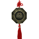 Divya Mantra Feng Shui Yin Yang & Fu Dog Bagua Double Sided Metallic Wall Hanging for Protection and Good Luck - Divya Mantra