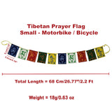 Divya Mantra Tibetan Prayer Flags, Wind Outdoor Flags, Car Jewelry Decor Accessories Flag Decorations, Buddhist Items Om Mani Padme Hum Peace Sign Wall Flag, Hanging For Car / Bike 2.2 Ft - Multicolor - Divya Mantra