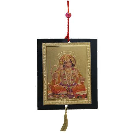 Divya Mantra Sri Shri Bajrang Bali Hanuman Talisman Gift Pendant Amulet for Car Rear View Mirror Decor Ornament Accessories/Good Luck Charm Protection Interior Wall Hanging Showpiece - Divya Mantra