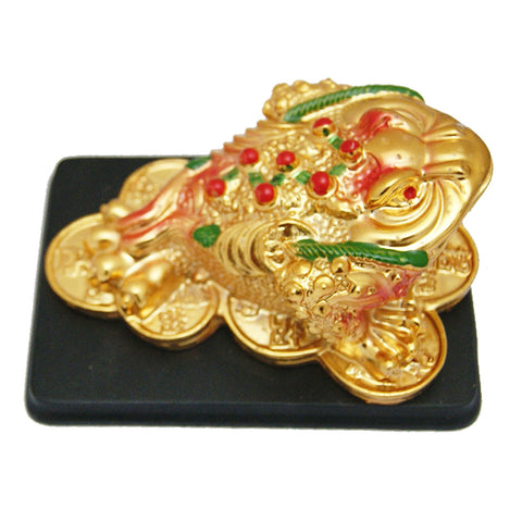 Divya Mantra Feng Shui Three Legged Money Toad for Fortune and Good Luck - Divya Mantra