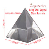 Divya Mantra Feng Shui Crystal Glass Pyramid For Spiritual Healing, Vastu Correction and Balancing - 7 cm - Divya Mantra